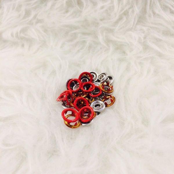 10 Jersey Druckknöpfe ring rot