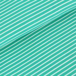 Bio Jersey Streifen smaragd