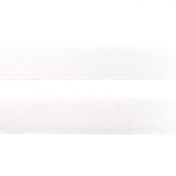 Klettband 25mm weiß