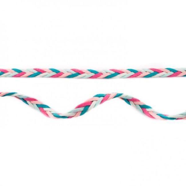 Geflochtenes Band Multicolour mint-rose