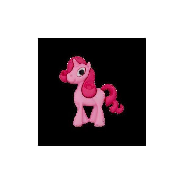 Polyesterknopf Öse Einhorn pink 25mm