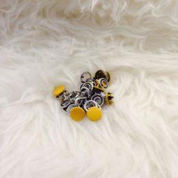 10 Jersey Druckknöpfe cap gelb