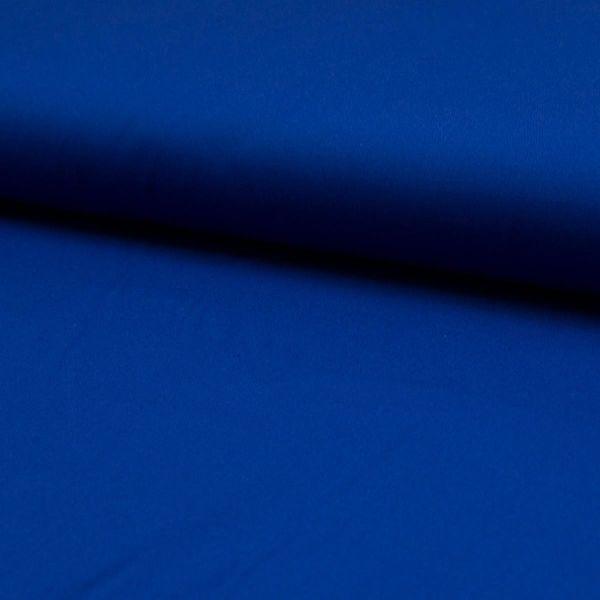 Baumwollstoff uni royal blau