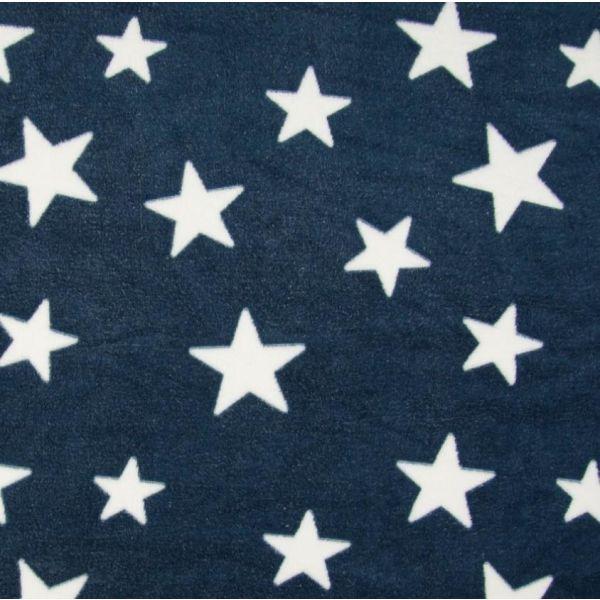 Fleece Jaquard Star Navy/White