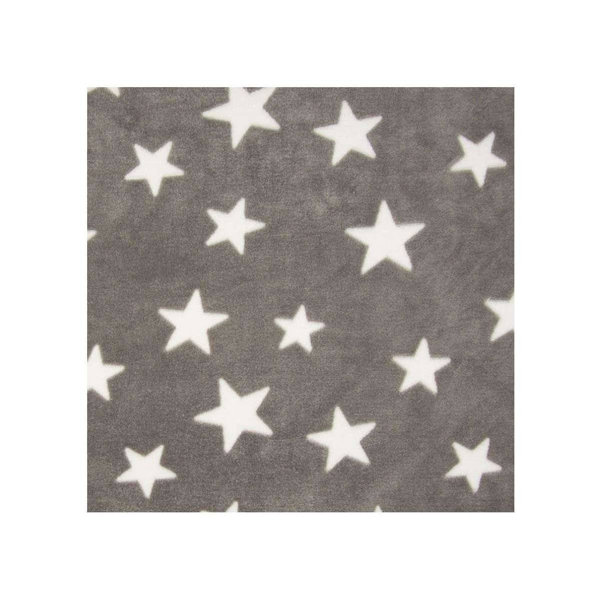 Fleece Jaquard Star Taupe/White