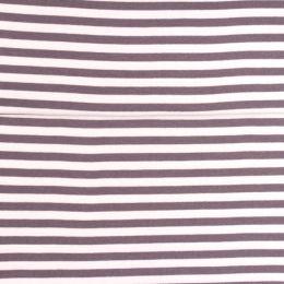 Ringel-Bündchen mittelbreit grau/weiß
