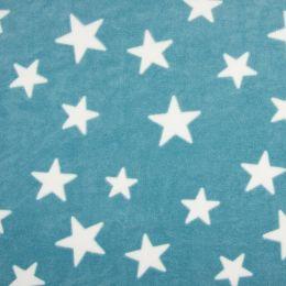 Fleece Jaquard Star Mint/White