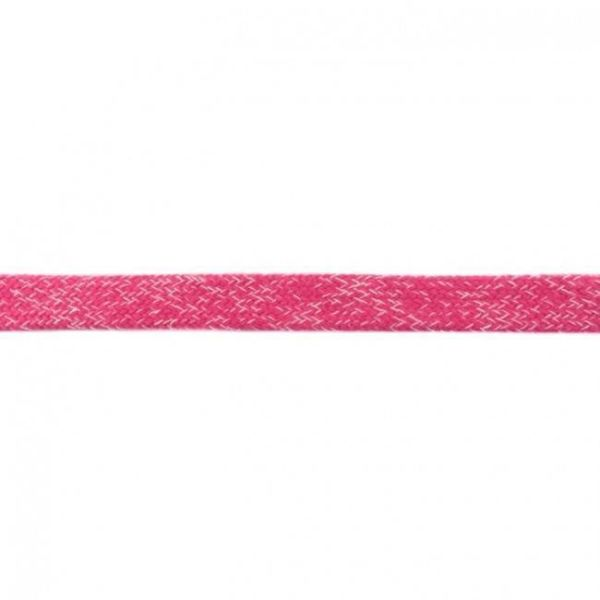 Baumwoll Kordel flach 20mm meliert fuchsia