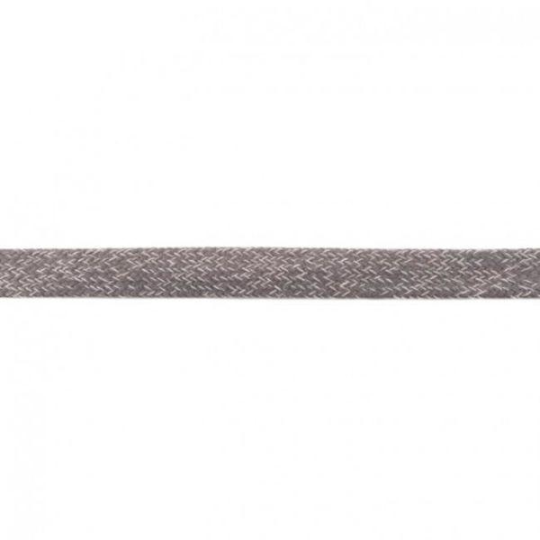 Baumwoll Kordel flach 20mm hellgrau