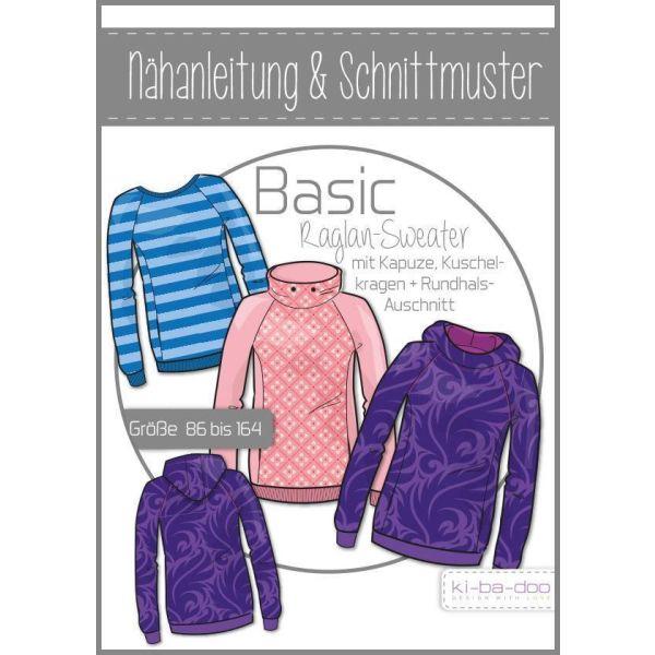 Basic Raglan Sweater Kinder -  DIN A0 Schnittmuster und Anleitung als Broschüre
