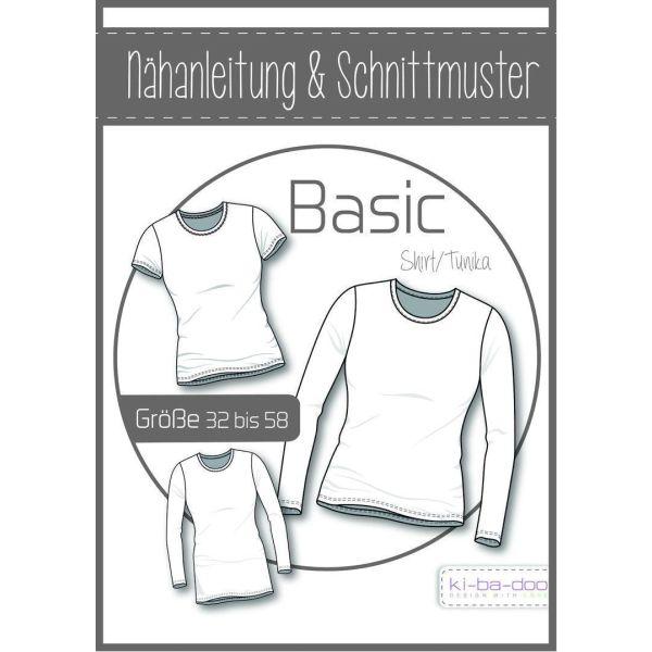 Basic Tunika Damen -  DIN A0 Schnittmuster und Anleitung als Broschüre