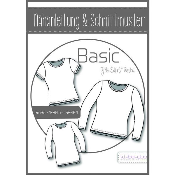 Basic Tunika/Shirt Kids -  DIN A0 Schnittmuster und Anleitung als Broschüre