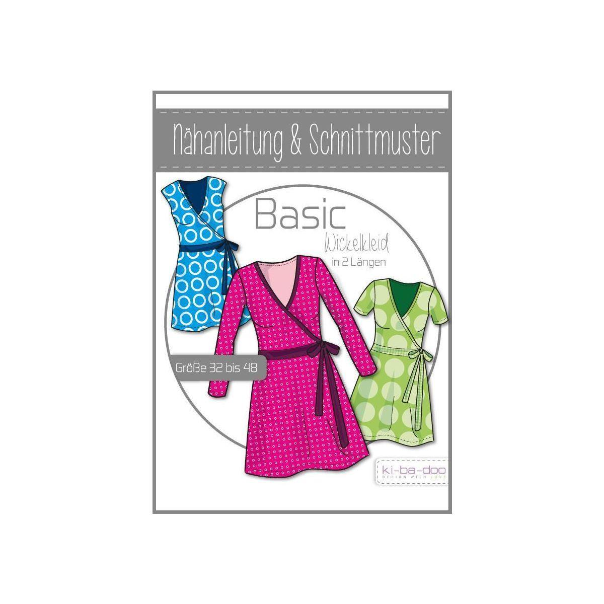 ki-ba-doo Damen Basic Wickelkleid - DIN A 0 Schnittmuster und Anleit