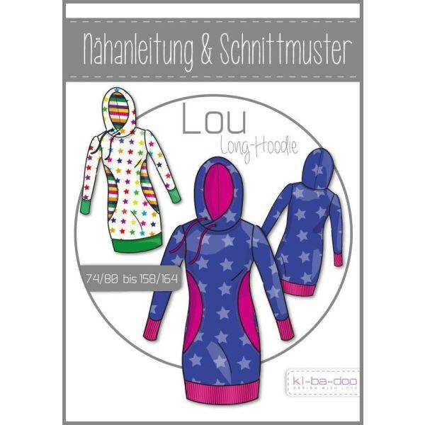 Long-Hoodie Lou -  DIN A0 Schnittmuster und Anleitung als Broschüre