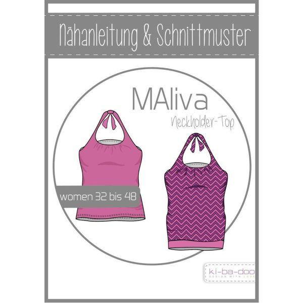Neckholder-Top MAliva - DIN A0 Schnittmuster und Anleitung als Broschüre