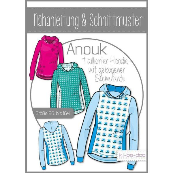 Schmaler Hoodie Anouk -  DIN A0 Schnittmuster und Anleitung als Broschüre