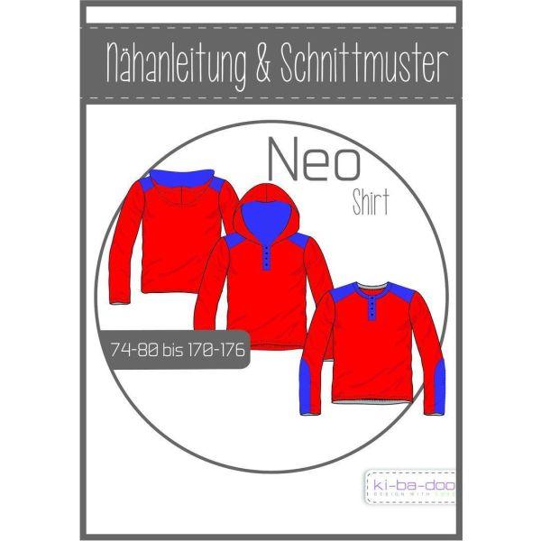 Shirt Neo -  DIN A0 Schnittmuster und Anleitung als Broschüre
