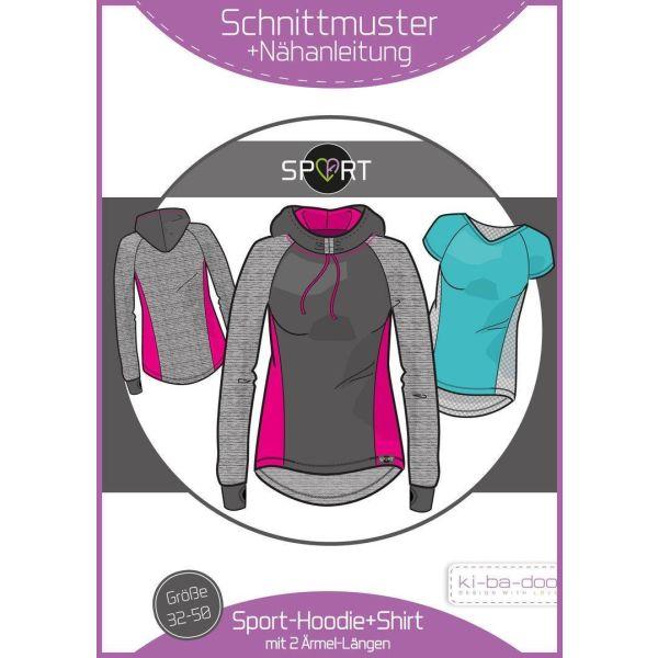 Sport-Hoodie Damen -  DIN A0 Schnittmuster und Anleitung als Broschüre