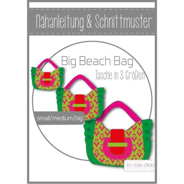 big beach bag Tasche - DIN A0 Schnittmuster und Anleitung als Broschüre