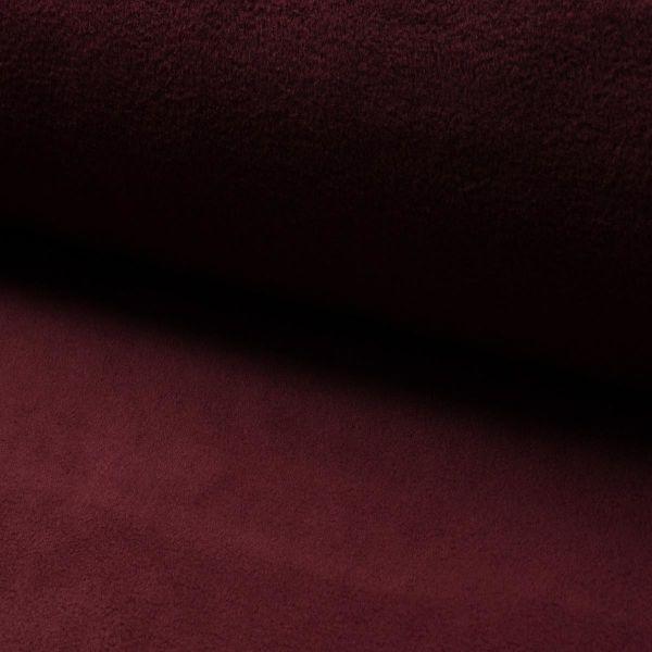 Fleece uni Dark Bordeaux