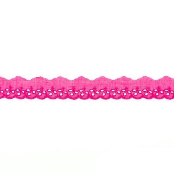 Baumwollspitze 30mm Kreise pink