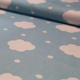 Baumwolle Wolken blau