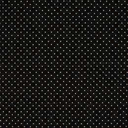 Baumwollstoff Punkte Mini schwarz/weiß