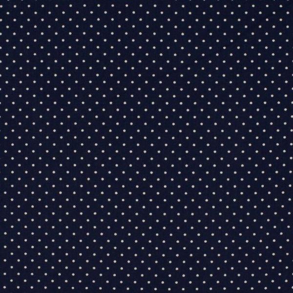 Baumwollstoff Punkte Mini navy/weiß