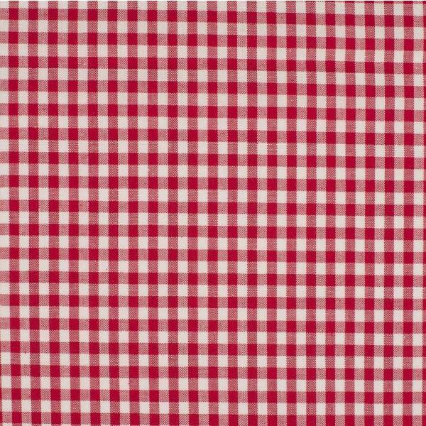 Baumwollstoff karo 5mm rot/weiß