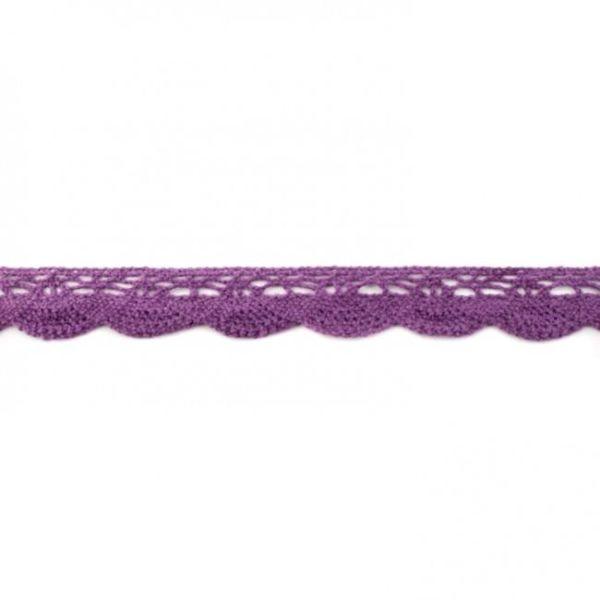 Baumwollspitze 20mm violett