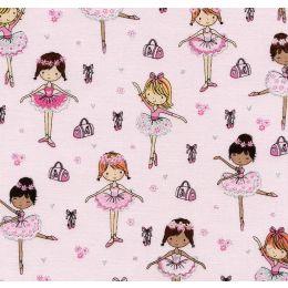 Designer Baumwollstoff Glitter Ballerinas