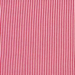 Ringel-Bündchen rot/weiß
