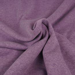 Sweat meliert purple/weißes Garn
