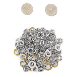 Jersey Druckknöpfe 10,5mm Ring weiß