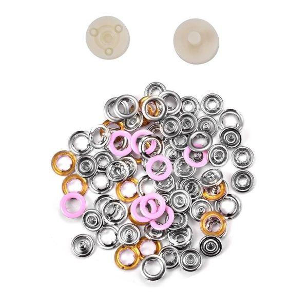 Jersey Druckknöpfe 10,5mm Ring rosa