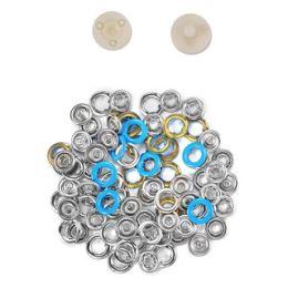 Jersey Druckknöpfe 10,5mm Ring blau