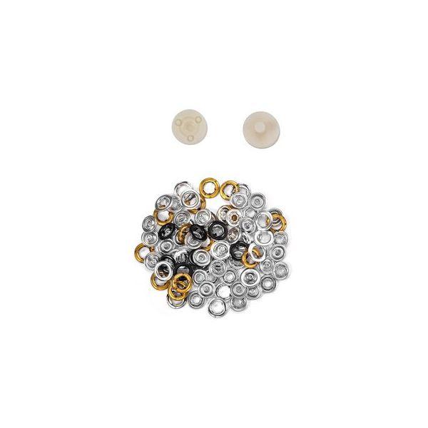 Jersey Druckknöpfe 10,5mm Ring schwarz
