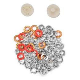 Jersey Druckknöpfe 10,5mm Ring rot
