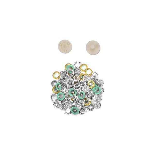 Jersey Druckknöpfe 10,5mm Ring mint