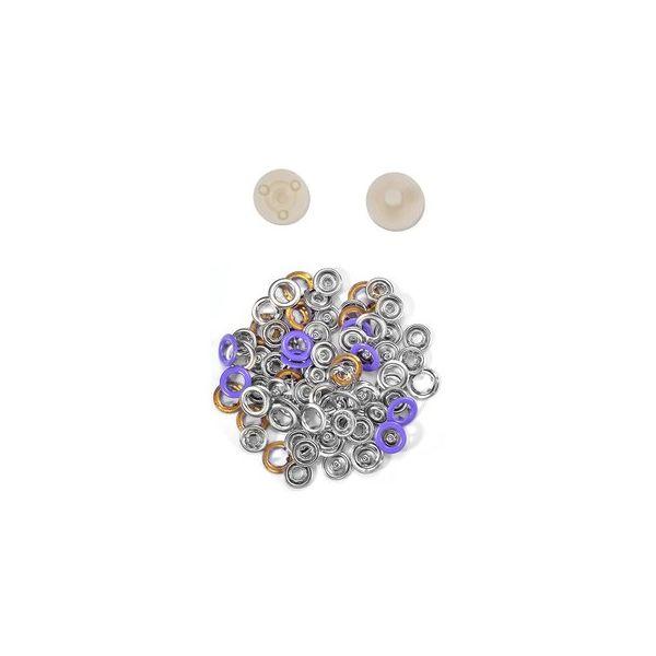 Jersey Druckknöpfe 10,5mm Ring lila