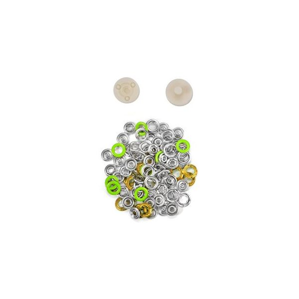 Jersey Druckknöpfe 10,5mm Ring hellgrün