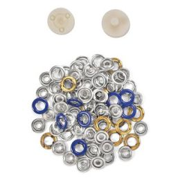 Jersey Druckknöpfe 10,5mm Ring dunkeblau