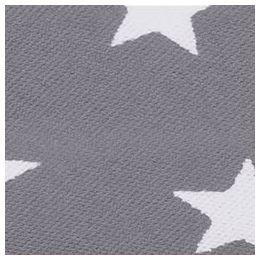 3m Schrägband Sterne Baumwolle Breite 40 mm gefalzt grau