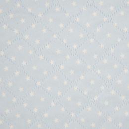 Steppstoff mit Teddyplüsch Sterne hellblau