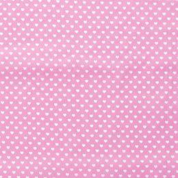 Baumwollstoff kleine Herzchen rosa