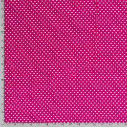 Baumwollstoff kleine Herzchen pink