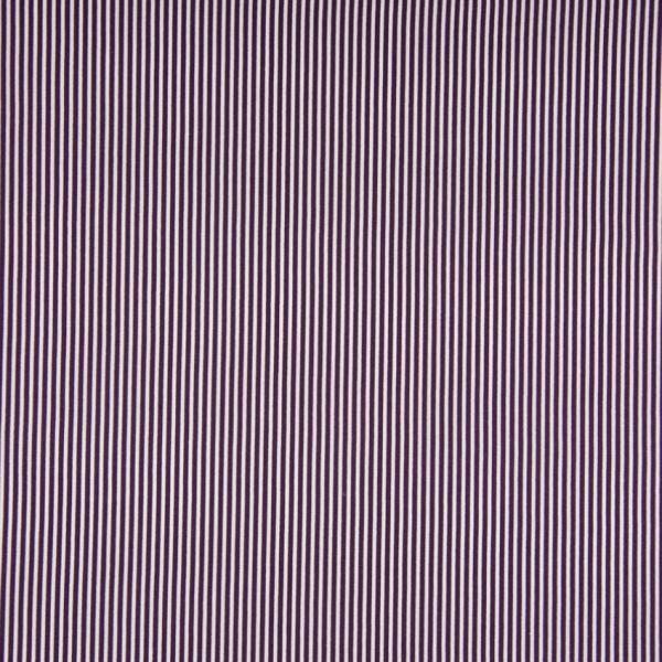 Baumwollstoff Streifen lila/weiß