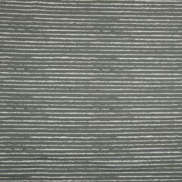 Jersey Streifen grau