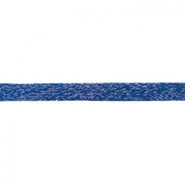 Baumwoll Kordel flach 20mm meliert dunkelblau