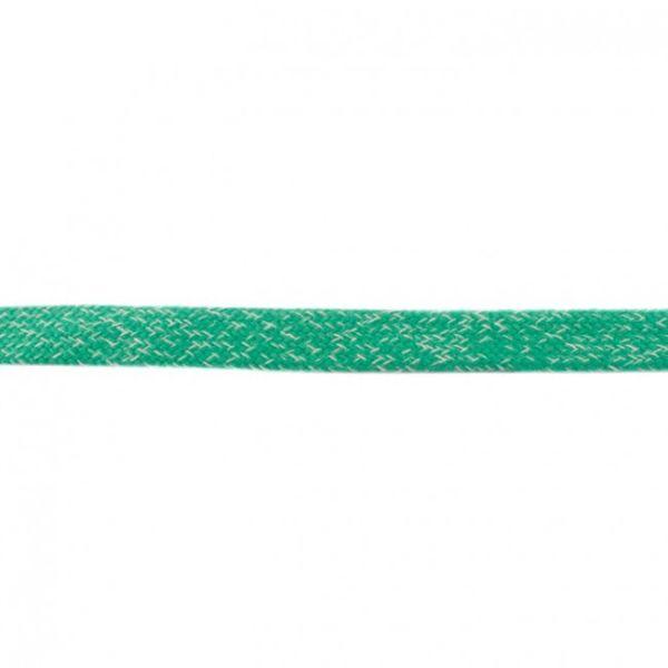 Baumwoll Kordel flach 20mm meliert apfelgrün